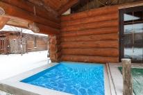 «Банечка» на дубовых дровах с прорубью: Новая баня на дровах с бассейном