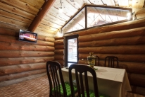 «Банечка» на дубовых дровах с прорубью: Дом с сауной на дровах
