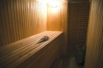 Баня на дровах у Днепра: Финская сауна