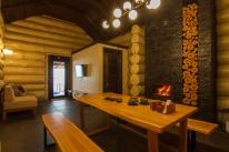 Банный клуб «Столичный»: Отдельно стоящий сруб с чаном , комнатой отдыха и камином