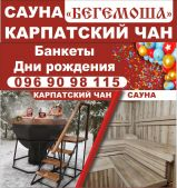 Сауна «БЕГЕМОША» + КАРПАТСКИЙ ЧАН